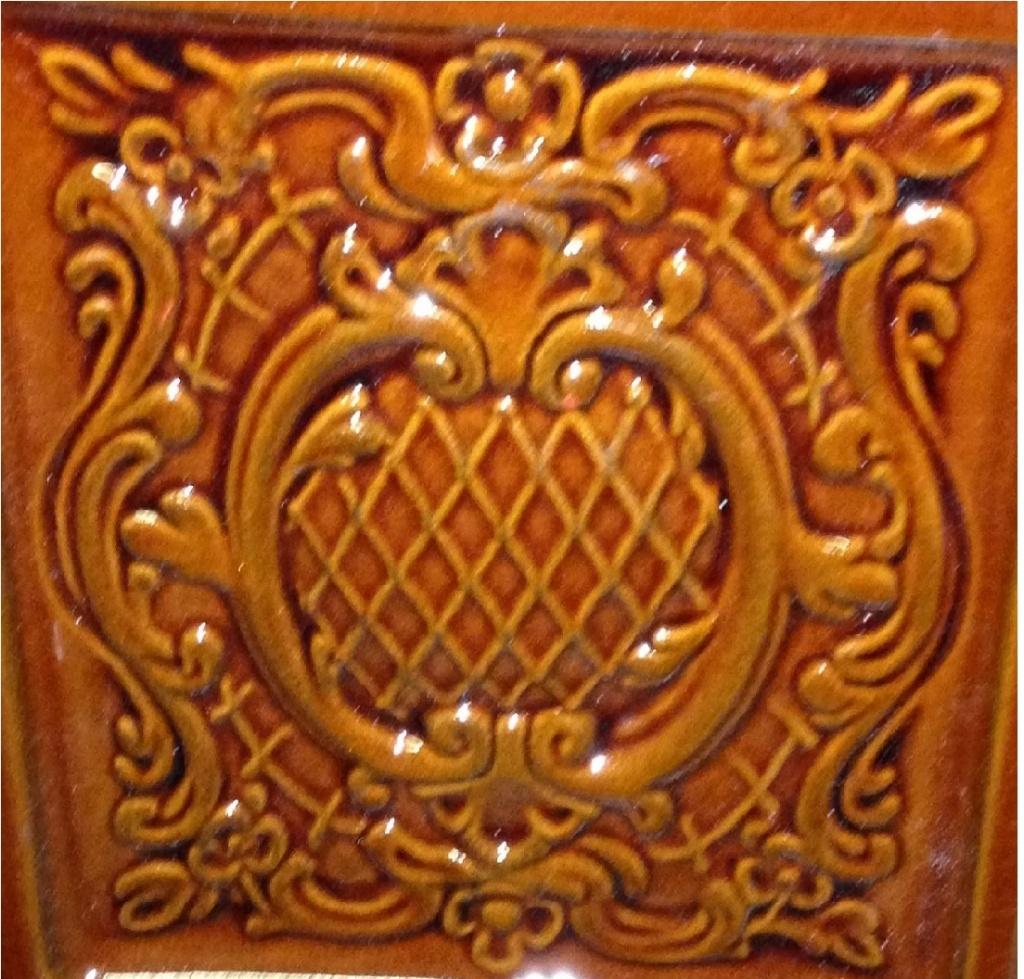 Изразец барокко коричневый Экокамин